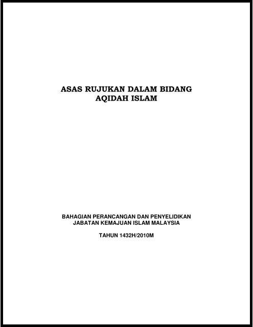 asas-rujukan-dalam-bidang-aqidah-islam-jabatan-kemajuan-